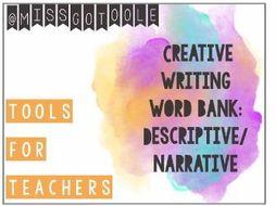Word Bank - Language Paper 1 (AQA): Creative/ Narrative/ Descriptive