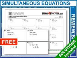Simultaneous Equations (GCSE Topic Review)