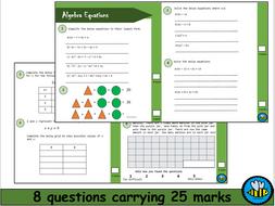 Algebra Equations Worksheet