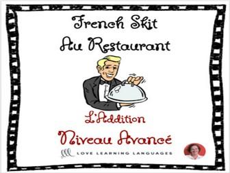 Advanced French Skit - Au Restaurant - L'addition