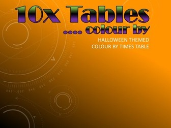 *HALLOWEEN* Colour by 10x Tables