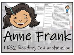 LKS2 History - Anne Frank Reading Comprehension Activity