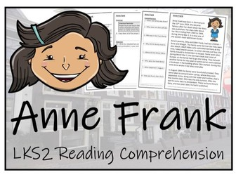 LKS2 History - Anne Frank Reading Comprehension Activity