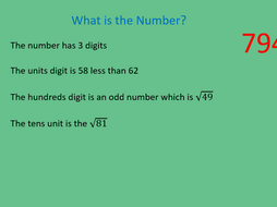 GCSE Maths/Functional Skills- Place Value Maths Riddles