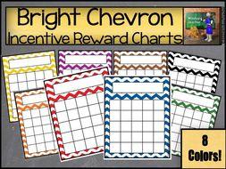 Chevron Sticker Reward Charts - Bright