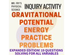 Gravitational Potential Energy Problems (HS-PS3-2) by ...