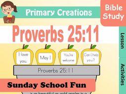 Sunday School Proverbs 25:11