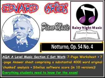 GRIEG NOTTURNO NOCTURNE AQA A Level Music Section C