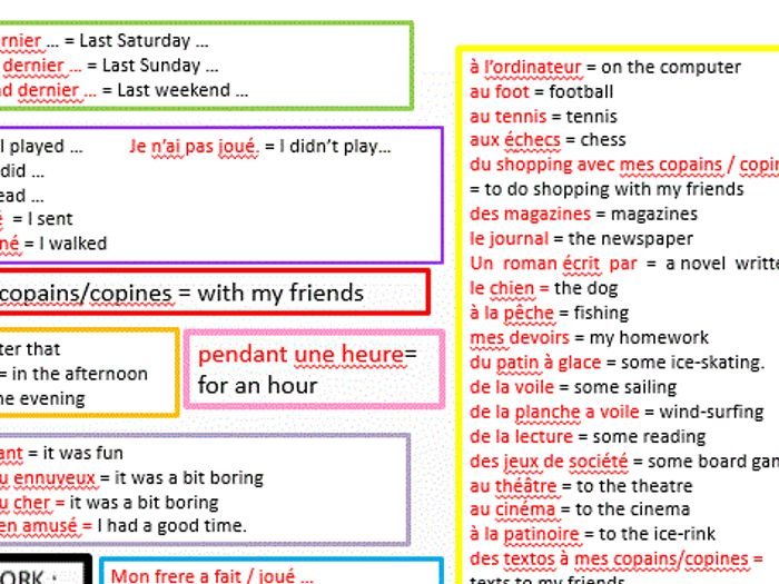 how i spent my last weekend essay in french