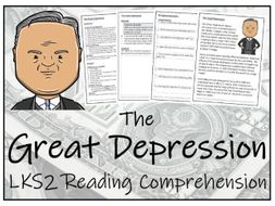 LKS2 - The Great Depression Reading Comprehension Activity