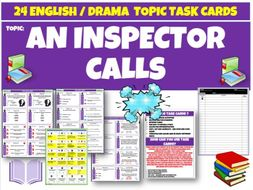 An Inspector Calls Task Cards