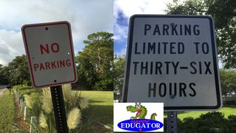 Dollar Stock Photos - No Parking and Limited Parking Signs Photographs