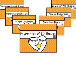 Maths Review Prompt Worksheets