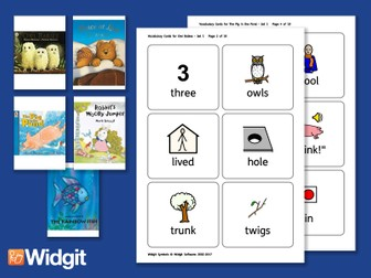 Big Books Pack 2 - Flashcards with Widgit Symbols