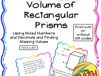 Volume of Rectangular Prisms