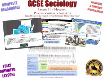 Processes Within Schools (II) - Sociology of Education L11/20 [ AQA GCSE Sociology - 8192] Hattie
