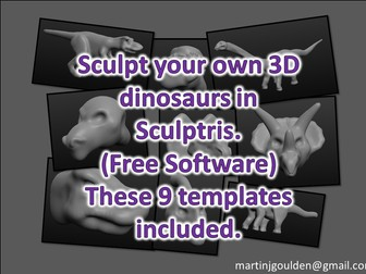 Create 3D Dinosaurs in Sculptris (Free program) - 3D modelling and printing