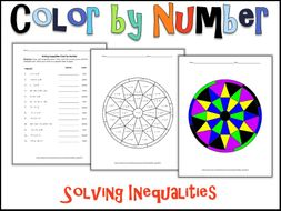Solving Inequalities Color By Number By Charlotte James615