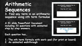 20-Questions-with-Animated-Step-by-Step-Answers.-ALGEBRA.-Sequences.-Arithmetic-Sequences.-3.-Find-any-term-in-a-sequence-from-nth-term-formulae.pptx