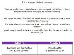 Btec Level 3 Unit 2 Marketing Exam answer structure