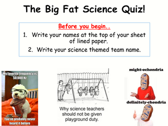 Science end of year quiz