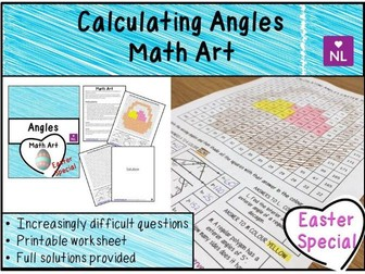 Calculating Angles (Math Art- Easter Special)