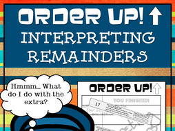 Interpreting Remainders - Order Up!