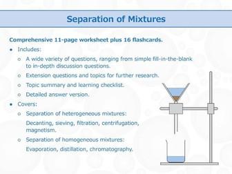 Mixtures [Worksheet Bundle] by GoodScienceWorksheets  Teaching Resources  Tes