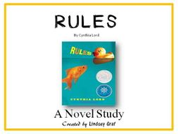 Rules - Novel Study (Focus Skill: Character)