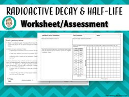 Radioactive Decay & Half-Life Assessment