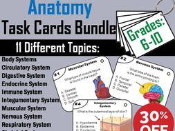 Anatomy Task Cards Bundle: Human Body Systems