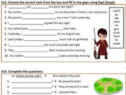 Past Simple Regular Irregular Verbs Was Were Negation Questions