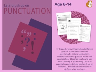 Brush Up On Punctuation (Improve Your English Work Pack) 9-14 years