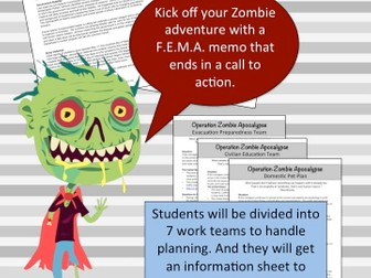 Zombies Invade the US- Learn Geography Through Disaster Planning