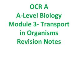 Biology OCR A Module 3 Revision Notes