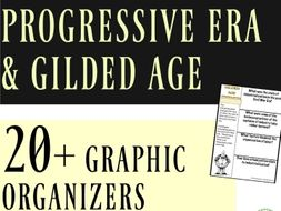 Progressive Era and Gilded Age 20+ Interactive Notebook Graphic Organizerss