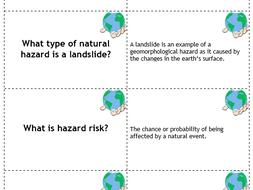 GCSE AQA Natural and Tectonic Hazard Flashcards