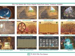 Bat Crazy English PowerPoint Game Template FREE READ ONLY SHOW