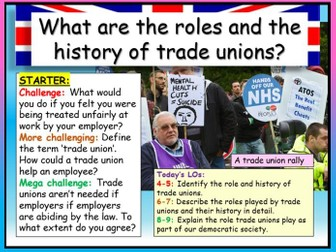 Trade Unions AQA Citizenship