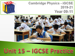Cambridge GCSE Physics - Unit 14 - Mathematics for Physics - Unit 15 - IGCSE Practice - Full Units