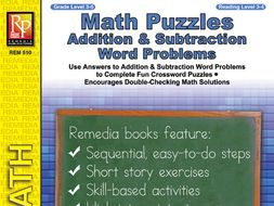 Math Puzzles: Addition & Subtraction Word Problems