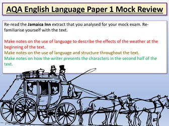 AQA English Language Paper 1 Mock Review - Jamaica Inn