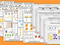 Year 1 One to One Correspondence Autumn Block 1 Step 8 Maths Lesson Pack