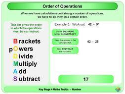 Order of Operations: BODMAS KS4