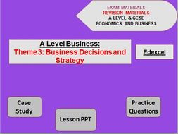 A Level Business Theme 3: Business Decisions and Strategy