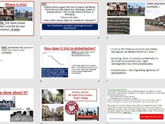 AQA A-LEVEL Changing Places - Placelessness (Lesson + Resources)