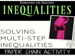 Solve Two Step Inequalities Paper Chain Activity
