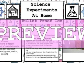Science Home Experiments - Bullet Proof Ice