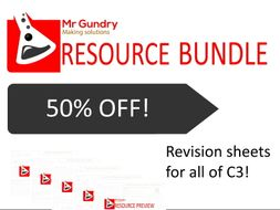 AQA Chemistry TRIPLE Revision Bundle (ALL of C3!)