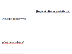 GCSE Spanish Oral Questions